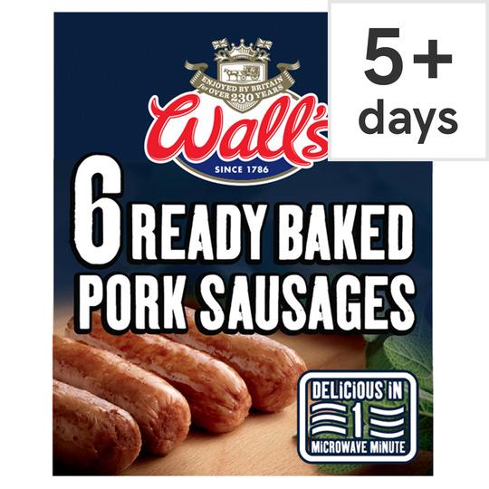 Walls Oven Baked Pork Sausages 275G