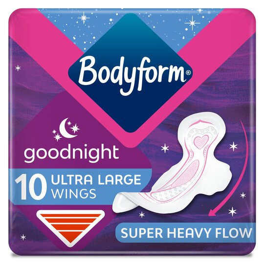 Bodyform Ultra Goodnight Sanitary Towels 10 Pack