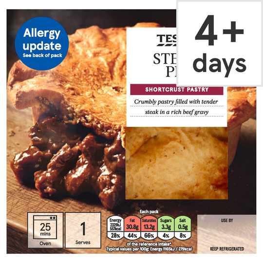 Tesco Steak Shortcrust Pie 200G - Tesco Groceries