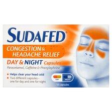 image 1 of Sudafed Headache Day & Night Capsules 16'S