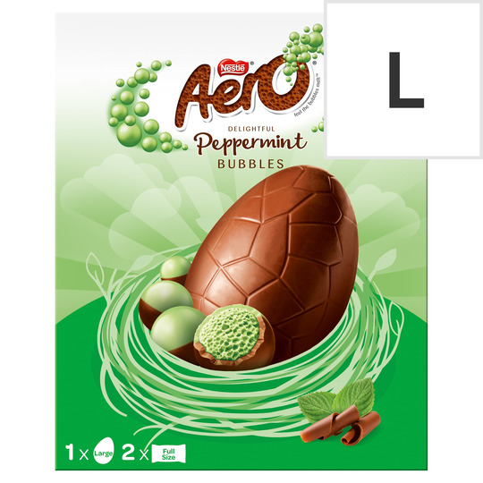 Aero Peppermint Milk Chocolate Large Easter Egg 252G