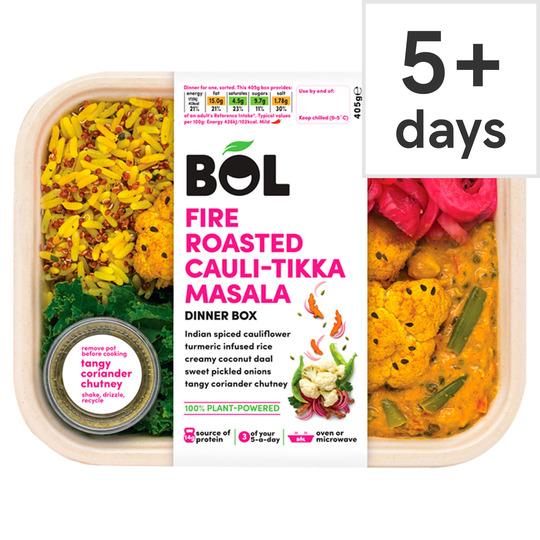 Bol Fire Roasted Cauliflower Tikka Masala Dinner Box 405G