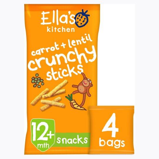 image 1 of Ella's Kitchen Carrot & Lentil Sticks 4X15g