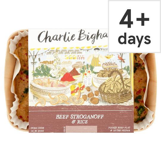 Charlie Bigham's Beef Stroganoff & Rice 790G