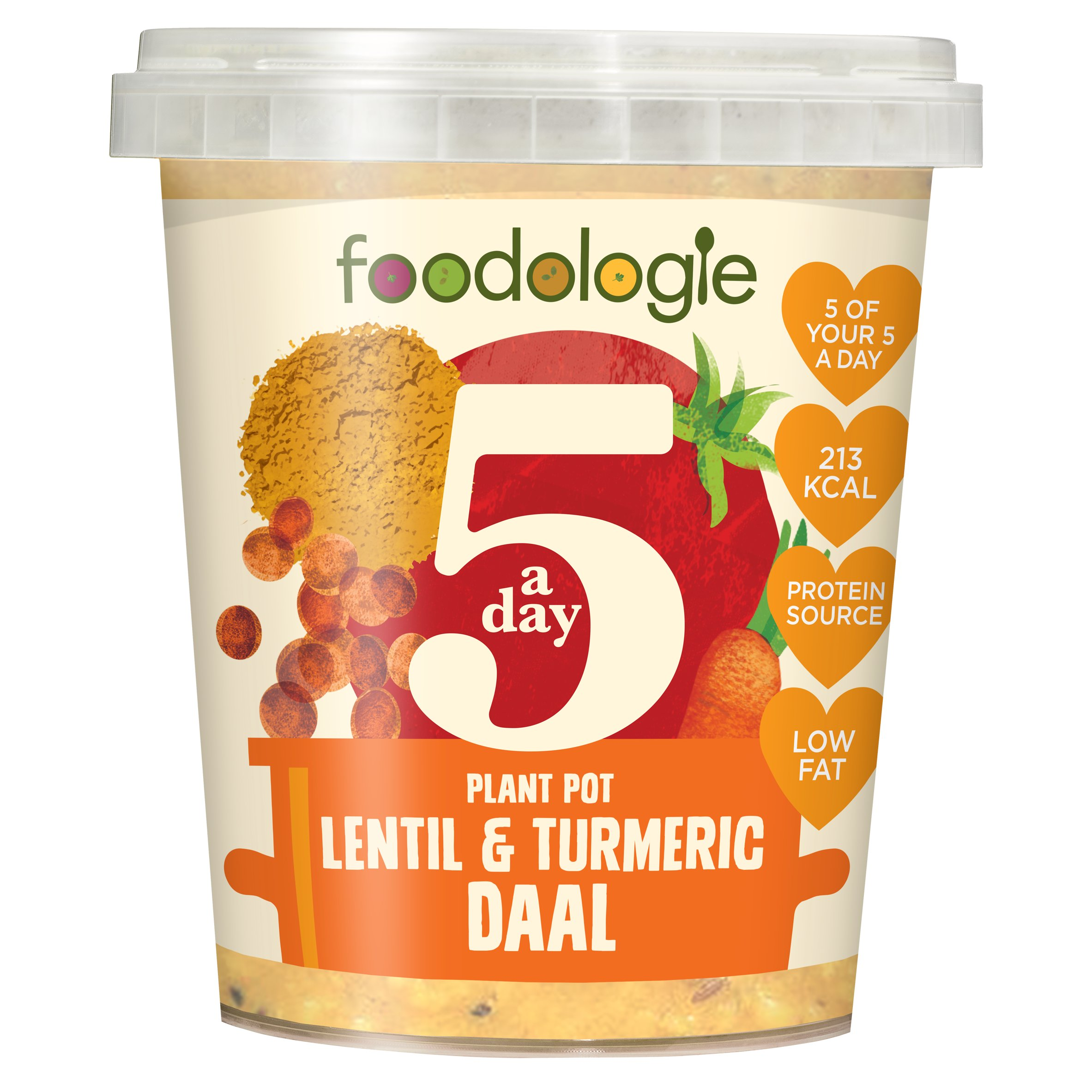 Foodologie 5 A Day Turmeric & Lentil Daal 400G