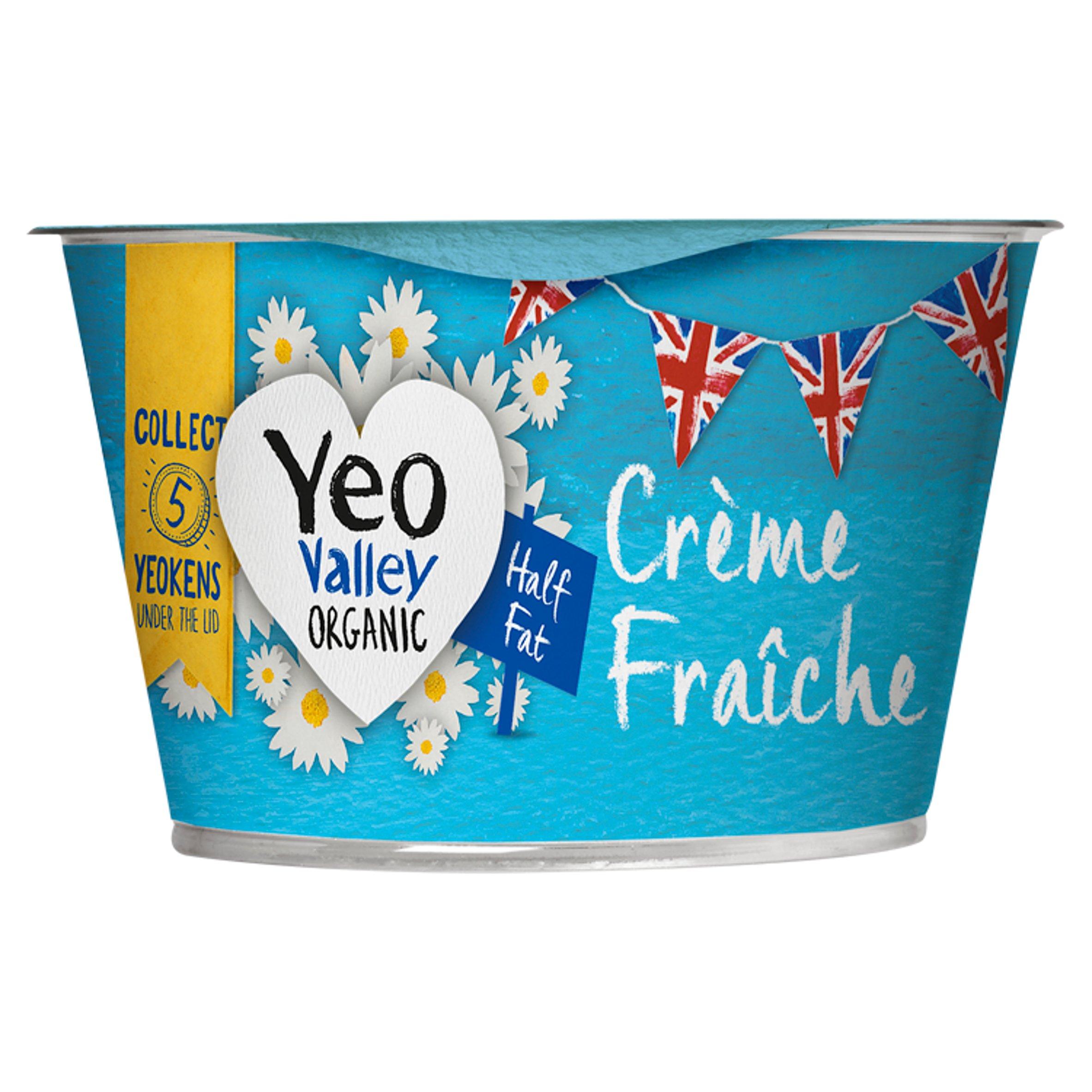 Yeo Valley Half Fat Organic Creme Fraiche 200G