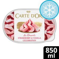 image 1 of Carte D'or Strawberry & Vanilla Ice Cream 850Ml