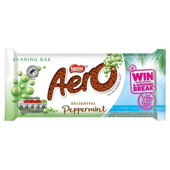 Aero Delightful Peppermint Chocolate Sharing Bar 90G