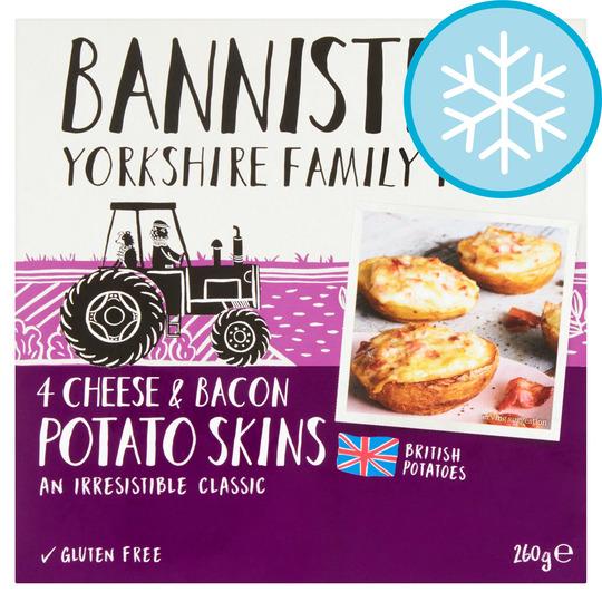 Bannisters Farm 4 Cheese & Bacon Potato Skins 260G