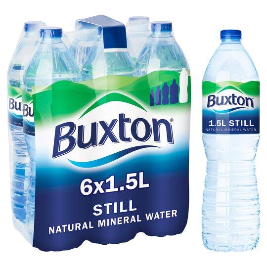 Buxton Natural Mineral Water Still 6 X 1.5Ltr