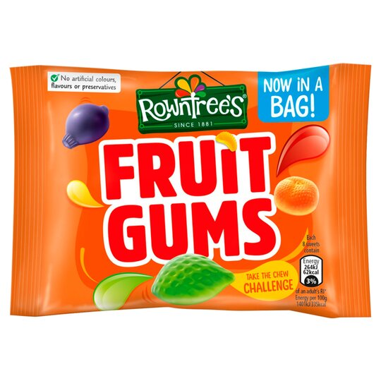 Rowntree's Fruit Gums Sweet Bag 43.5G