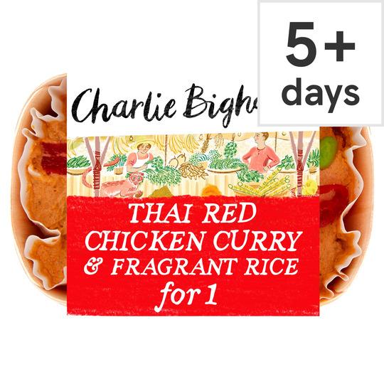 Charlie Bigham's Thai Red Chicken Curry & Rice 418G