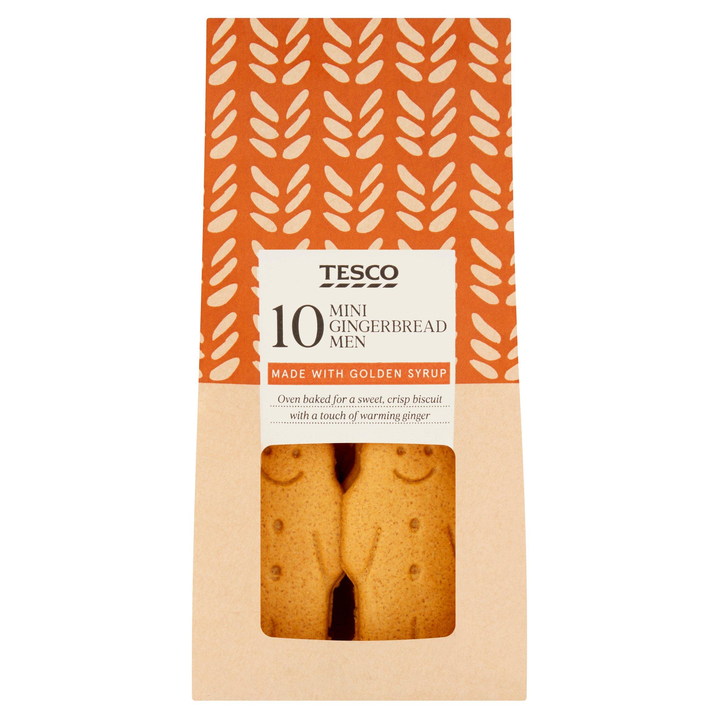 Tesco 10 Mini Gingerbread Men