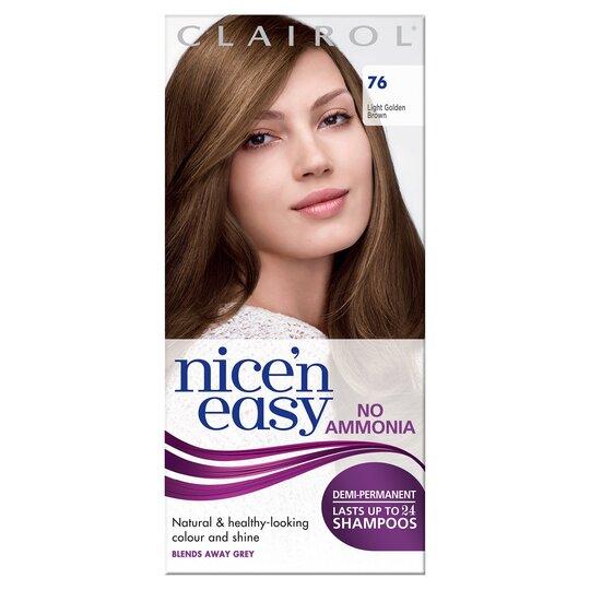 Nice'n Easy No Ammonia Light Golden Brown 76 Hair Dye