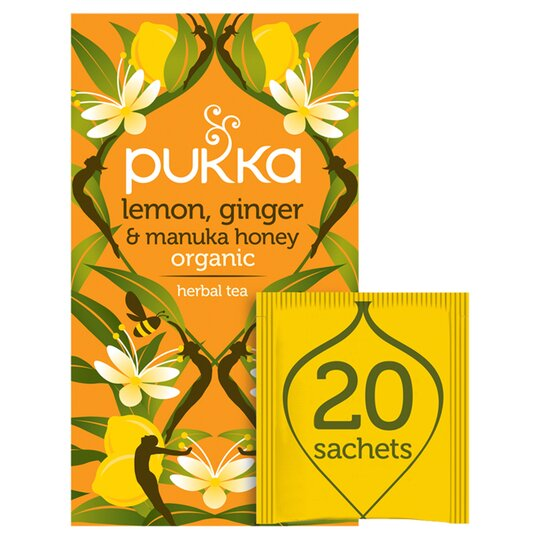 Pukka Organic Lemon & Ginger With Honey 20 Tea Bags 40G