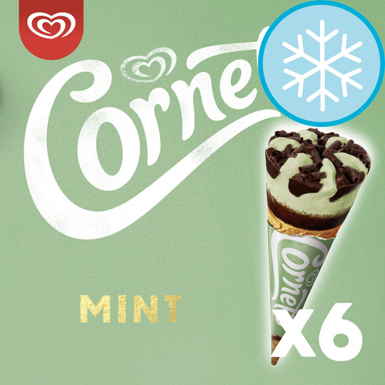 image 1 of Cornetto Mint Ice Cream Cones 6 X 90Ml
