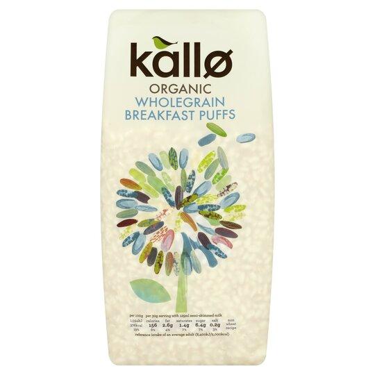 Kallo Organic Puffed Rice Cereal 225G