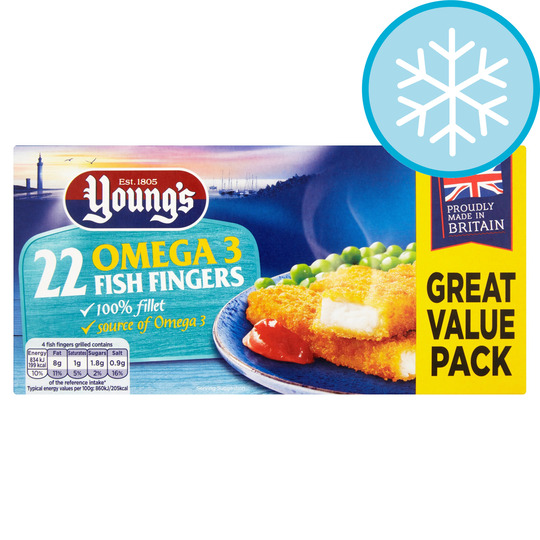 Youngs 22 Omega 3 Fish Fingers 550G