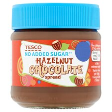 Tesco No Added Sugar Hazelnut Chocolate Spread 200g