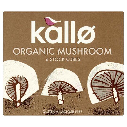 Kallo Organic Stock Cubes Mushroom 66G