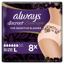 image 4 of Always Discreet Boutique Bladder Weakness Pants Large 8