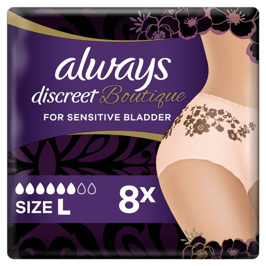 image 1 of Always Discreet Boutique Bladder Weakness Pants Large 8