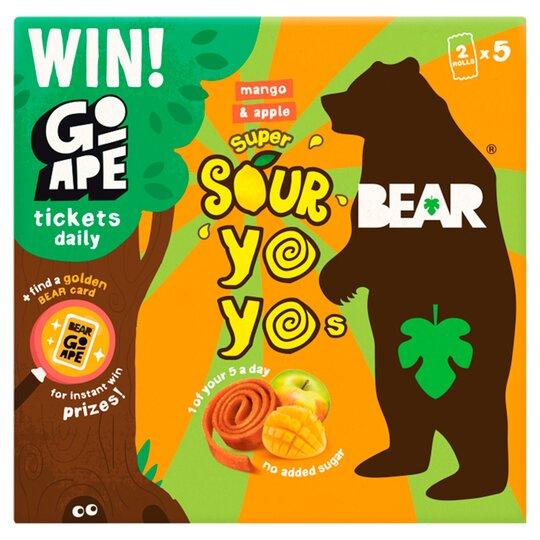 Bear Yoyo Sours Mango & Apple 10 Rolls 5 Pack