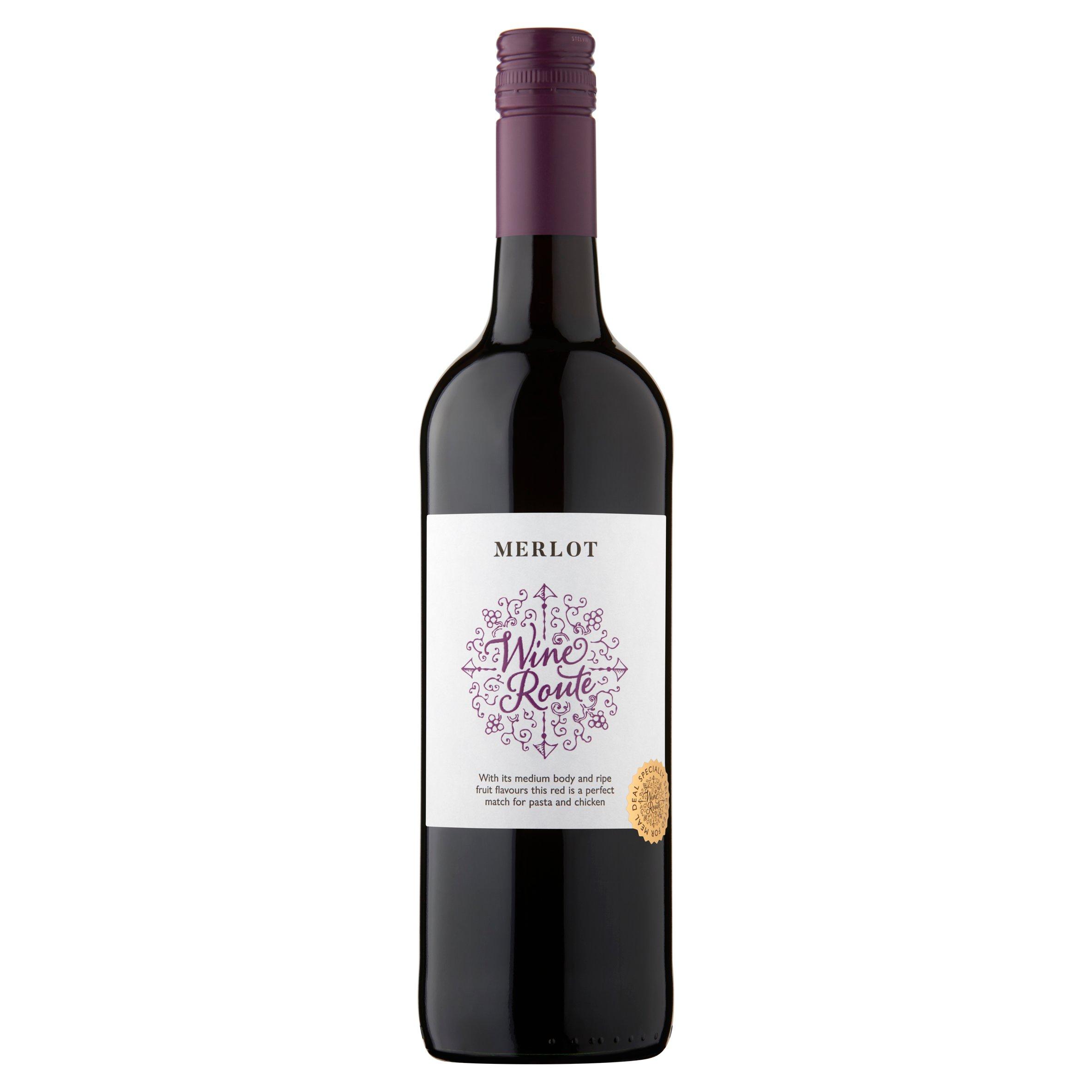 Wine Route Chilean Merlot 75Cl