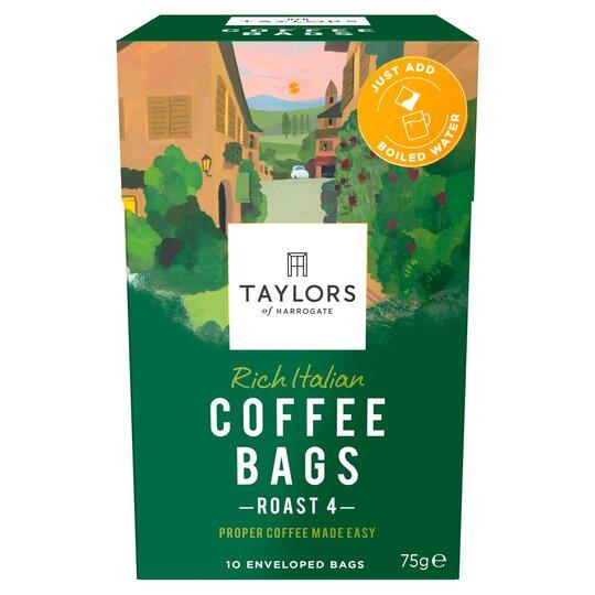 Taylors Italian Coffee Bags 10s 75g