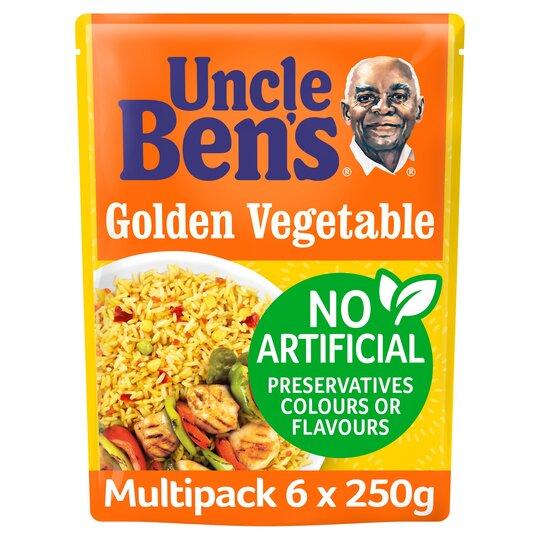Uncle Ben's Golden Vegetable Microwave Rice 6 X 250G