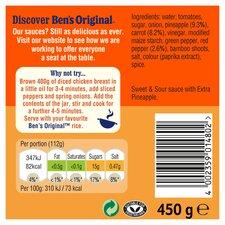 image 2 of Bens Original Sweet & Sour Extra Pineapple Sauce 450G