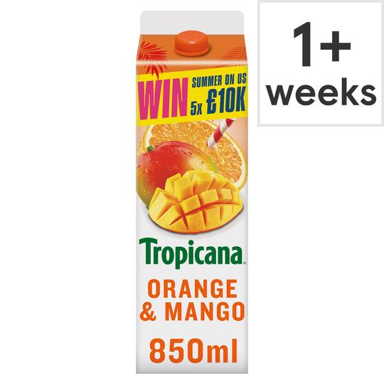 image 1 of Tropicana Orange & Mango Juice 850Ml