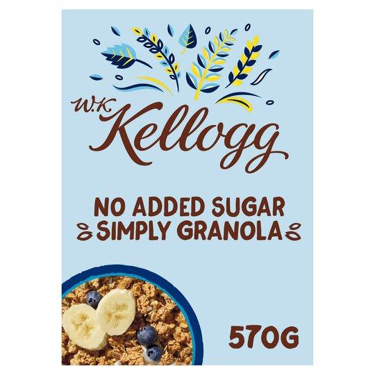 W.K Kellogg No Added Sugar Simply Granola 570G