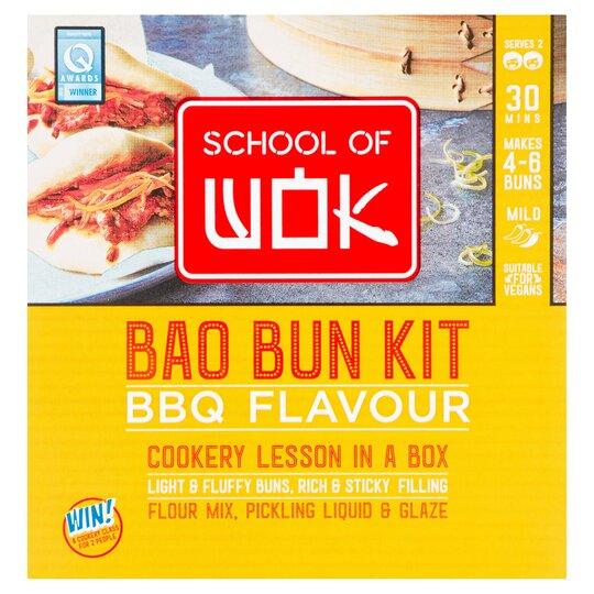 School Of Wok Bao Bun Kit Bbq Flavour 340G