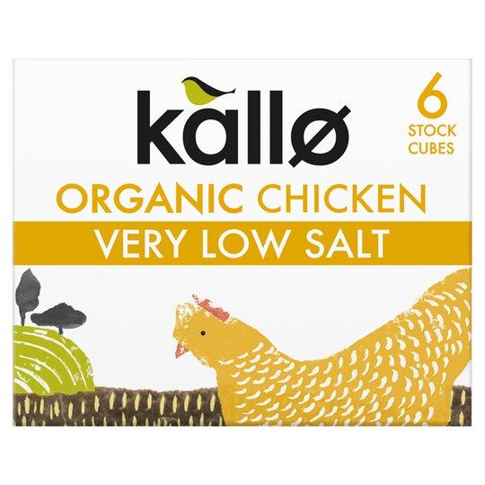 Kallo Very Low Salt Organic Chicken Stock Cubes 48G