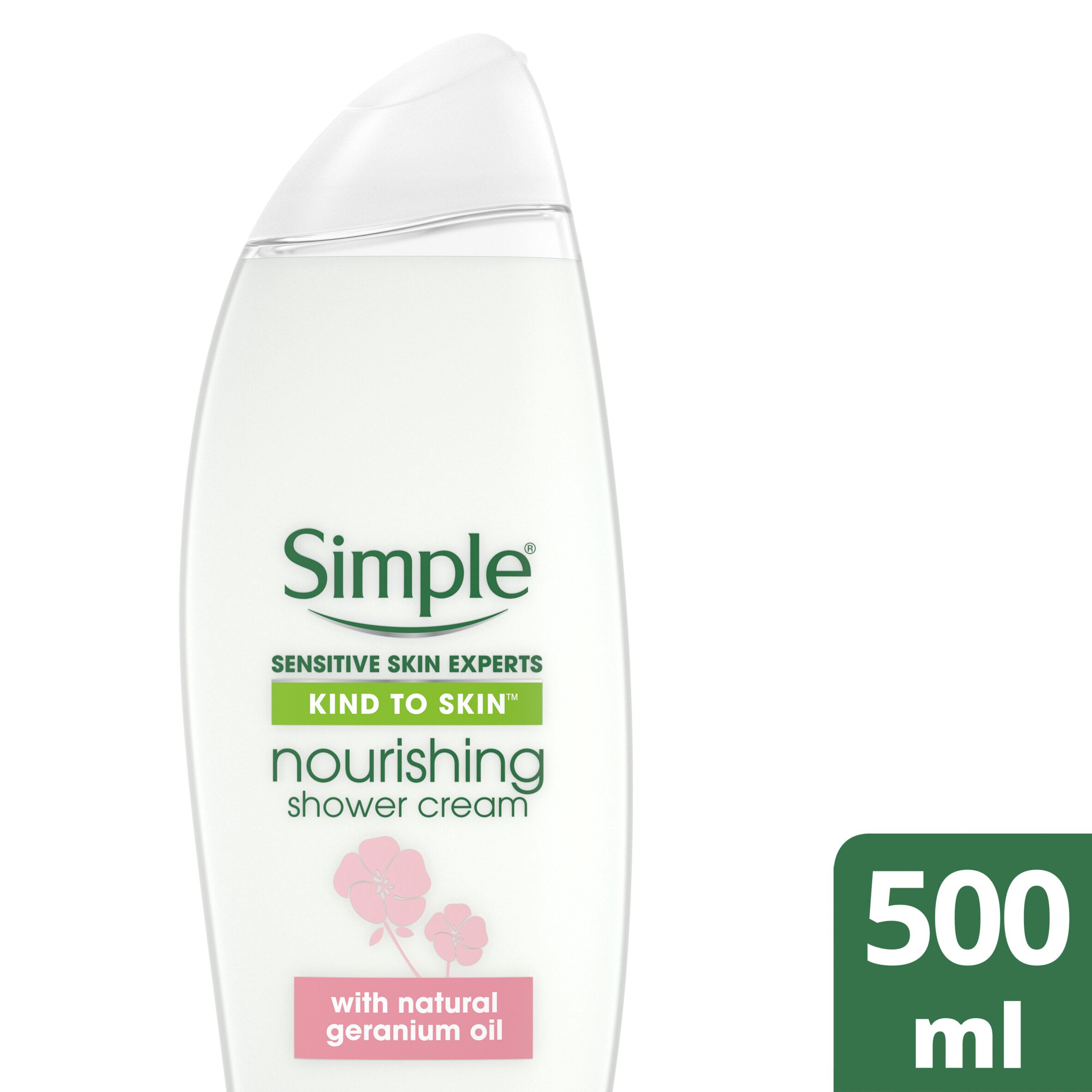 Simple Kind To Skin Nourishing Shower Cream 500Ml