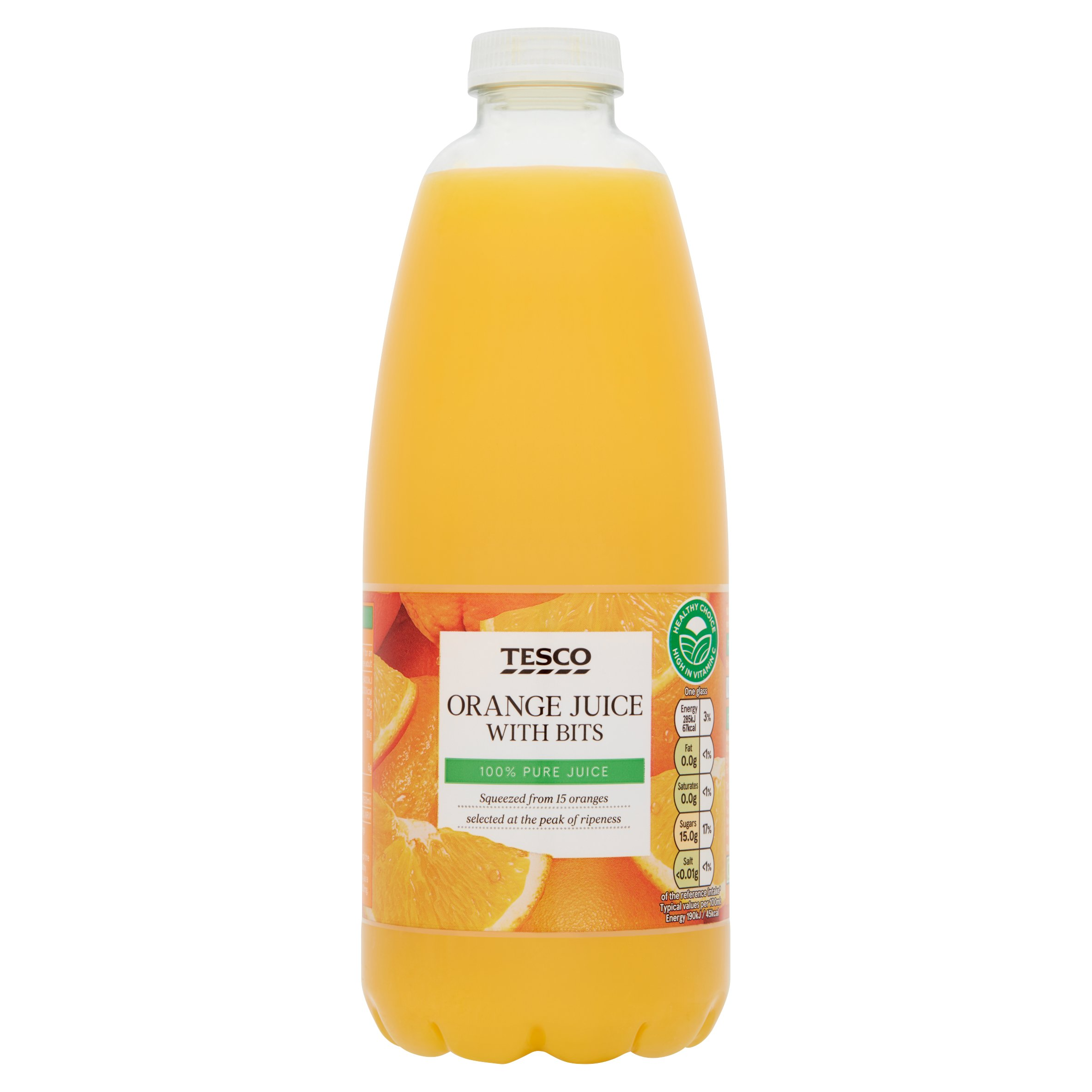 Tesco Orange Juice With Bits Not From Concentrate 1L