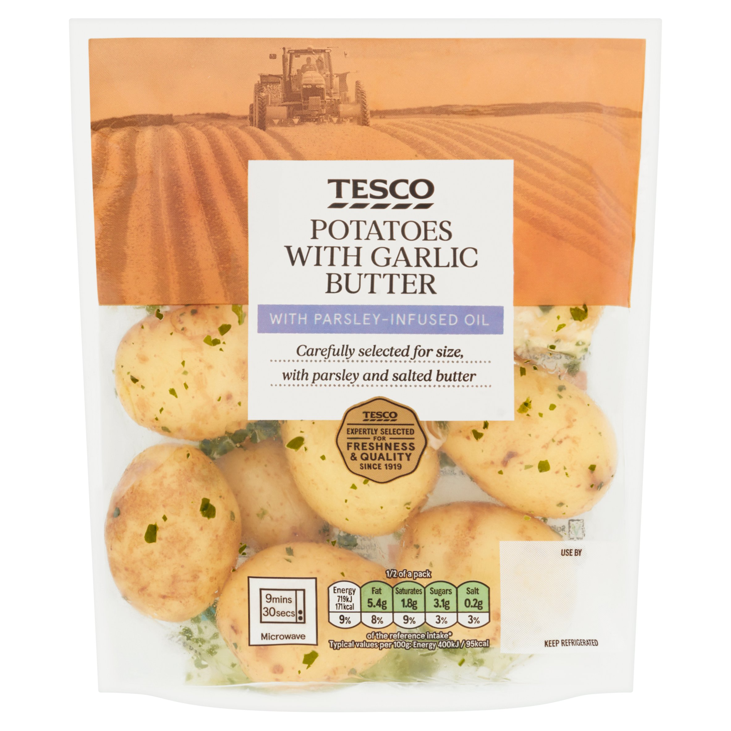 Tesco Potatoes With Garlic Butter 360G