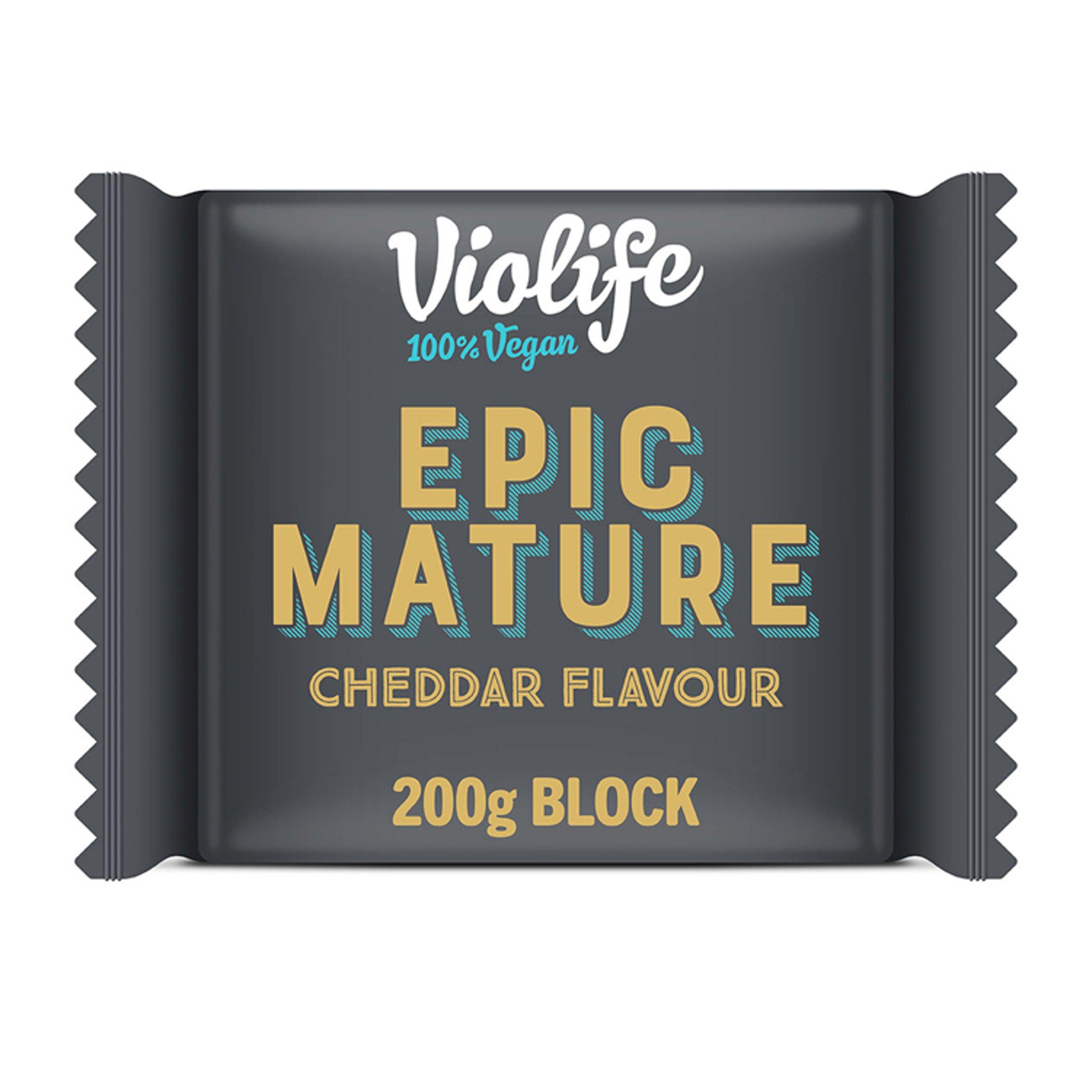 Violife Vegan Epic Mature Cheddar Flavoured Block 200G
