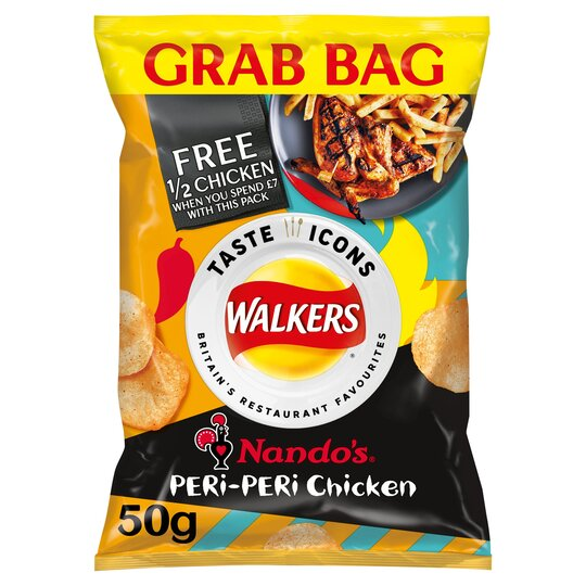 image 1 of Walkers Nando's Peri-Peri Chicken Crisps 50G