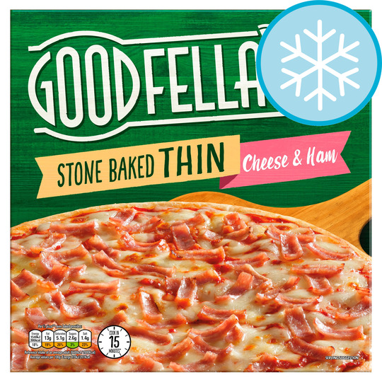 Goodfella's Stone Baked Thin Cheese & Ham Pizza 351G