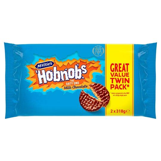 Mcvitie's Milk Chocolate Hobnobs 2X318g