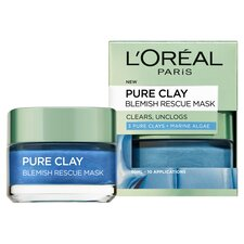 image 2 of L'oreal Paris Pure Clay Blemish Rescue Face Mask 50Ml