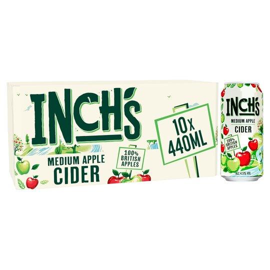 Inch's Medium Apple Cider 10 X 440Ml