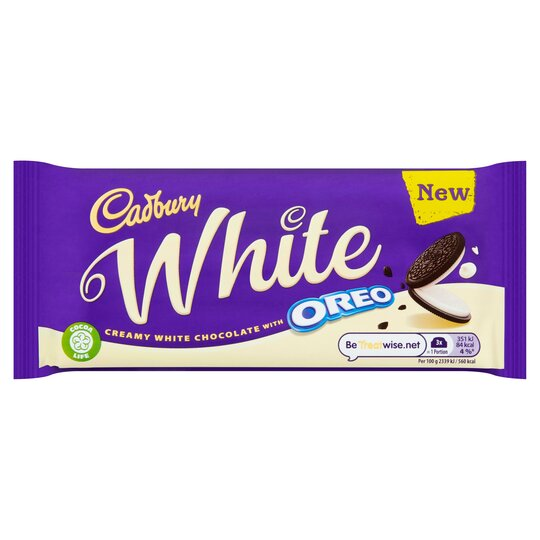 Cadbury Oreo White Chocolate Tablet 120G