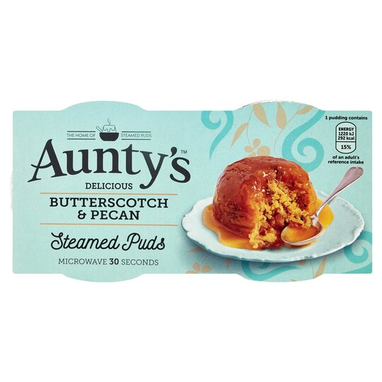 Aunty's Butterscotch & Pecan Steamed Puddings 2 X 95G