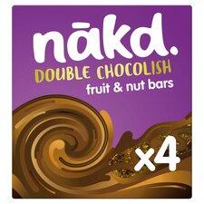 image 1 of Nakd Double Chocolish Fruit & Nut Bars 4X35g