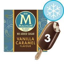 image 1 of Magnum No Added Sugar Vanilla Caramel Ice Cream 3X90ml