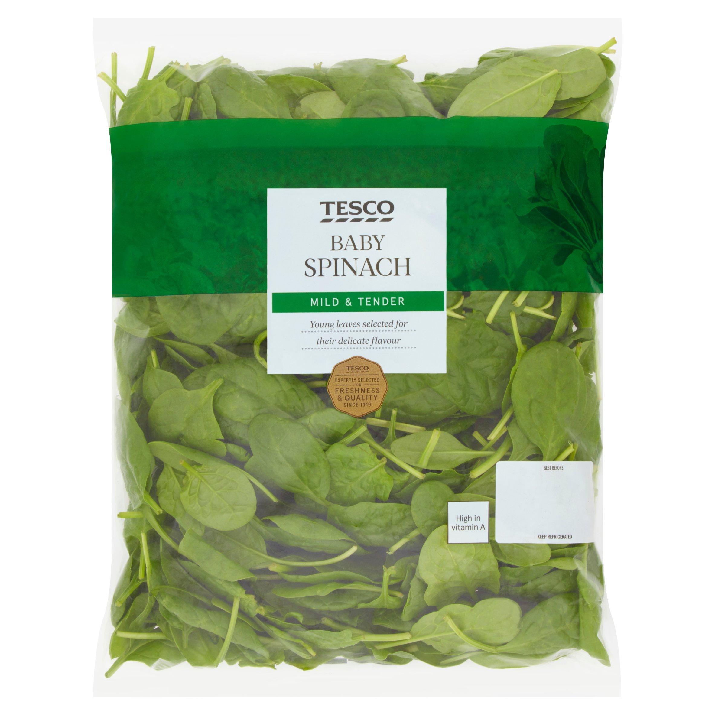 Tesco Baby Spinach 250G