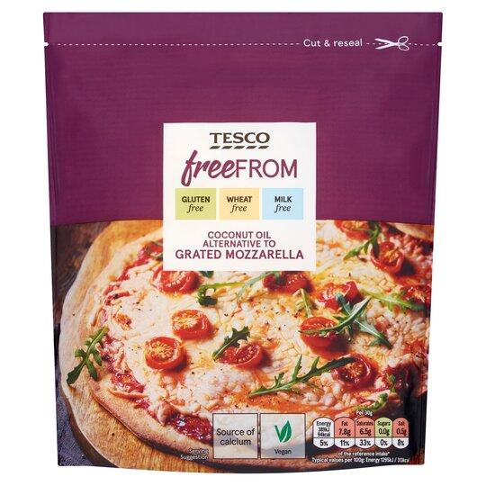 Tesco Free From Coconut Oil Alternative To Grated Mozzarella 200g